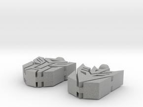 Transformer Earrings in Metallic Plastic