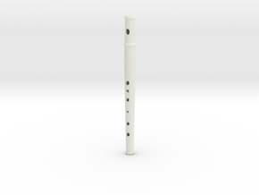 Pflute, soprano, tapered bore in White Natural Versatile Plastic
