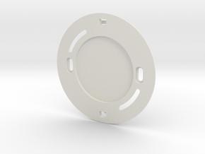 YingYang smoke detector (base) in White Natural Versatile Plastic