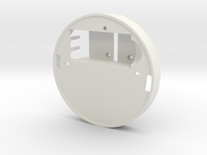 Yingyang smoke detector (midsection) in White Natural Versatile Plastic