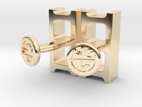 Cinderblock Cufflinks in 14K Yellow Gold