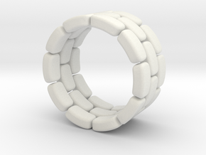 Flexi ring  in White Natural Versatile Plastic