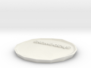 SHAPEWAYS PLATE variant 4 in White Strong & Flexible