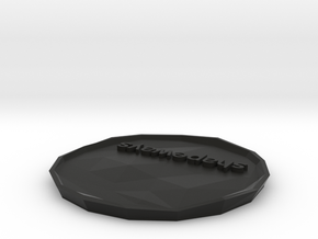 SHAPEWAYS PLATE variant 4 in Black Strong & Flexible