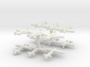 Ki-44 Tojo (Triplet) 1:900 x4 in White Natural Versatile Plastic