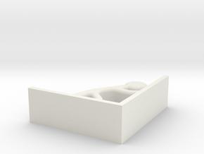 I3D PUSHINGMAN in White Natural Versatile Plastic