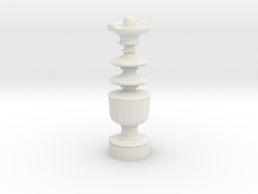 Smaller Staunton King Chesspiece in White Natural Versatile Plastic