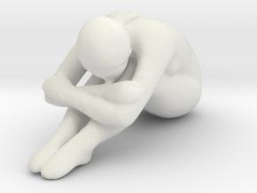 Female Sculpture 50mm in White Natural Versatile Plastic