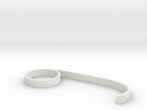 Chelsea Ring #3 Finger in White Natural Versatile Plastic