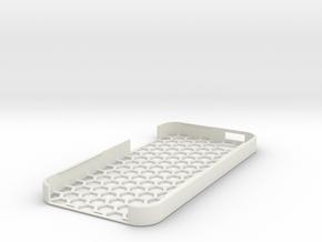 iPhone 5 Honey Comb Case in White Natural Versatile Plastic