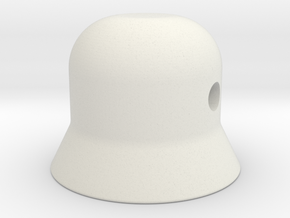 Control knob  in White Natural Versatile Plastic