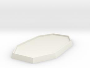 "1 5/6"" Diameter Double Hex Base in White Natural Versatile Plastic"
