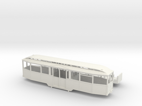 Tram Leipzig Mitteleinstieg Beiwagen Typ 61 (1:87) in White Natural Versatile Plastic