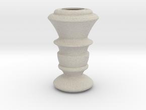 Flower Vase_19 in Sandstone