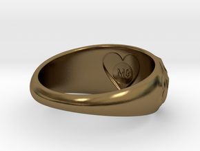 Volcanic Crater Ring in Polished Bronze