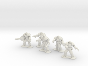 18mm Legionary Heavies (x5) in White Natural Versatile Plastic