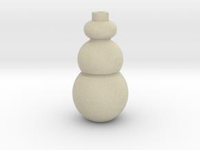 IkebanaVase-3 in Full Color Sandstone