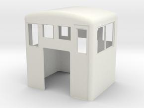 On30 modern centre cab in White Natural Versatile Plastic
