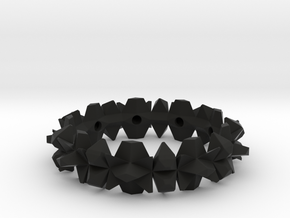 bangle 002 hollow 65mm in Black Strong & Flexible