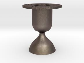 Laval. Rocket engine testing.  in Polished Bronzed Silver Steel