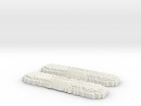 Center Magnetic Field Custom Swiss Army Knife Side in White Natural Versatile Plastic