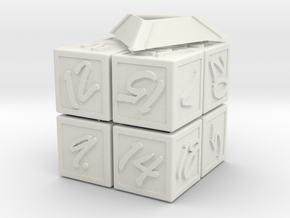 Magic100Cube mini in White Natural Versatile Plastic