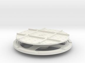 On16 wagon turntable 43mm diameter  in White Natural Versatile Plastic
