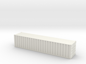 40ft Container Ribbed, (NZ120 / TT, 1:120) in White Natural Versatile Plastic