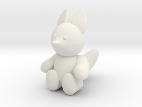Toy Fox in White Natural Versatile Plastic