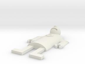 Robot 11-11-12 in White Natural Versatile Plastic