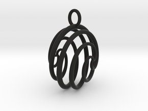 Ball Ornament in Black Natural Versatile Plastic