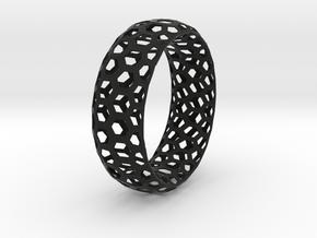 Hexagon Pattern Bracelet Thin Version in Black Strong & Flexible