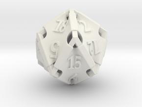 Stretcher d20 in White Natural Versatile Plastic