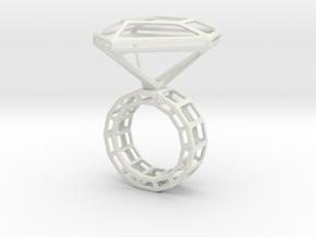 Ring_Diamant_NR3_Groesse_53 in White Natural Versatile Plastic