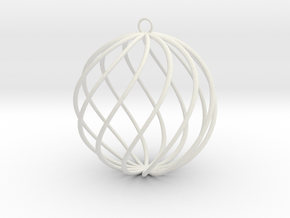 spiral christmas ball large in White Strong & Flexible