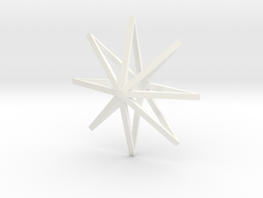 star2 ornament by Jorge Avila in White Strong & Flexible Polished