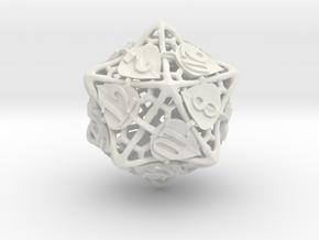 Botanical d20 (Aspen) in White Natural Versatile Plastic