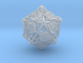 Botanical d20 (Aspen) in Smooth Fine Detail Plastic
