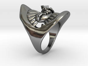 Jaws ring in Premium Silver