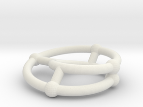 moebius ring | scaled line 24x4 in White Natural Versatile Plastic