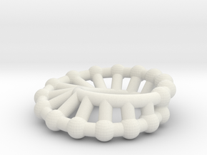 moebius ring | scaled line 24x16 in White Natural Versatile Plastic