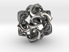 Icosahedron I, pendant in Premium Silver