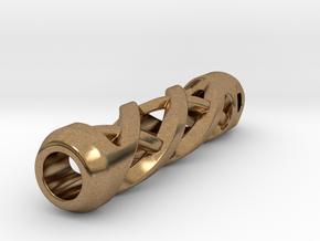 Tritium Lantern 2A (Silver/Brass/Plastic) in Natural Brass