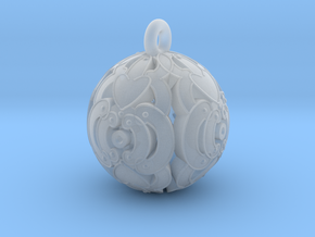 Pendant- Mari Bead in Smooth Fine Detail Plastic