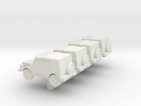 Z Scale DKW Munga in White Strong & Flexible