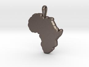 Mapa Mudo de Africa in Polished Bronzed Silver Steel
