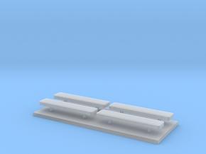 Whelen lightbar 17,4 mm 4 stuks in Smooth Fine Detail Plastic