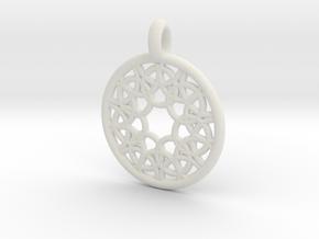 Elara pendant in White Natural Versatile Plastic