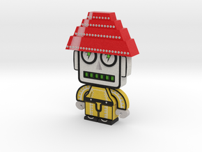 DevoBot Series 1 yellow bio suit Bob1 in Full Color Sandstone