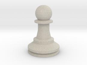 Large Staunton Pawn Chesspiece in Natural Sandstone